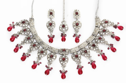 Very stunning and pretty Indian bridal necklace set by Touchstone- PWNSL201-01AZ-W