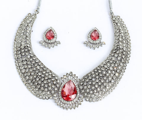 Very stunning and pretty Indian necklace set by Touchstone- PWNSL202-01AZ-W