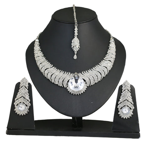 Touchstone Fascinating Style Diva Necklace Set- PWNSL265-03A--W