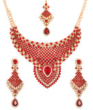 Touchstone Antique Gold Plated Mesmerizing Necklace Set- PWNSL315-01AR-G