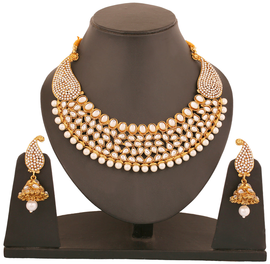 Touchstone Antique Gold Plated Rich Traditional Indo-Western ...
