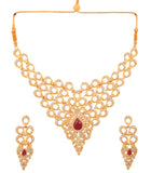 Touchstone Golden AD Dsigner Royal Necklace Set- PWNSL395-01AR-Y
