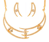 Touchstone Gold Plated Funky Necklace set- PWNSL433-01A--Y