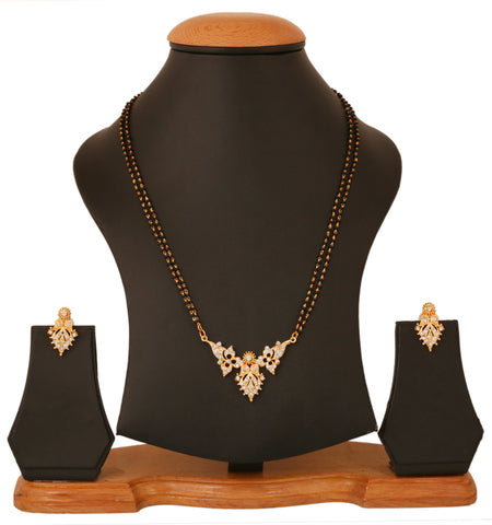 Touchstone Gold Plated Indian Traditional Style Mangalsutra Set- PWNSM006-01A--Y