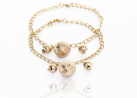 Touchstone Anklets Pair With Ball Design- PWPJL004-01---Y