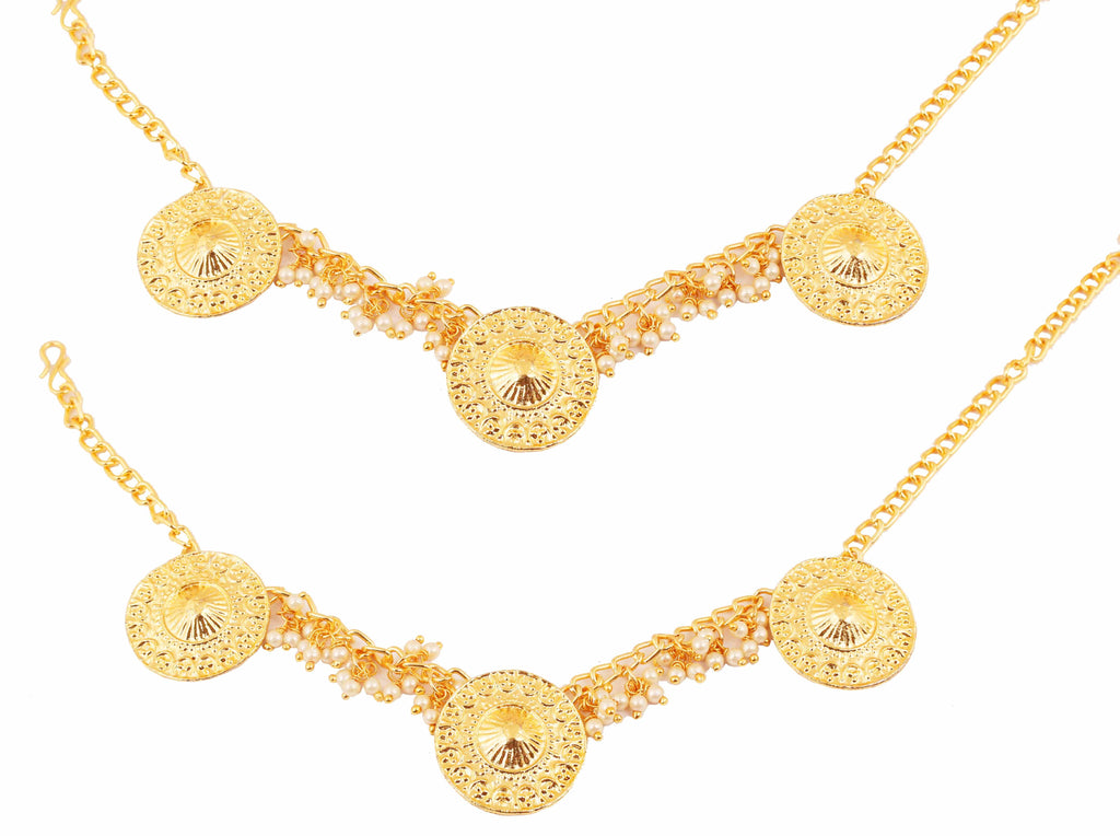 Beaten Metal South-Kashmir Fusion Bahubali Fame Necklace In Gold Tone-PWPJL048-01---Y