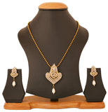 Touchstone Antique Gold Plated Alluring Pendant Set- PWPSL112-01A--G