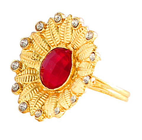 Touchstone Captivating Gold Plated Ring- PWR-J003-01AR-Y