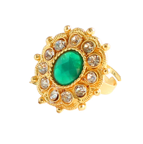 Touchstone Enchanting Gold Plated Ring- PWR-J004-01AE-Y