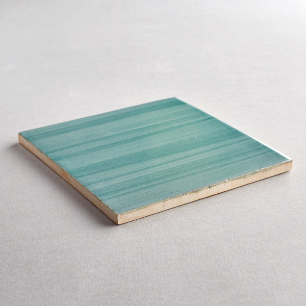 Verde Claro tile - handpainted, handmade green tiles from Everett and Blue