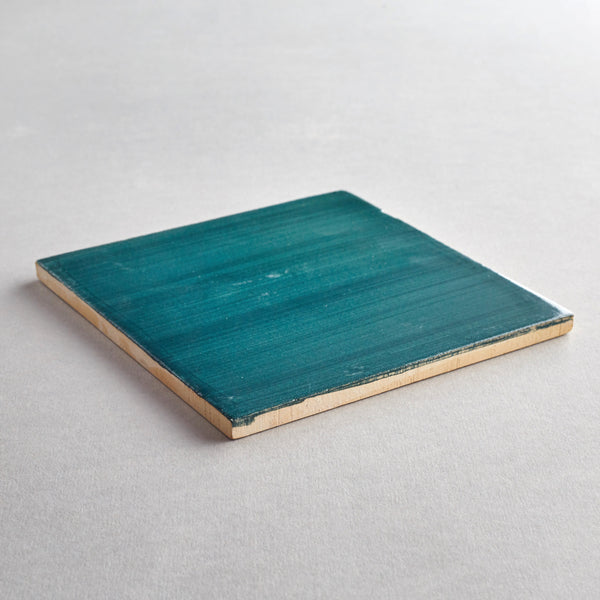 Verde Escuro tile - handpainted, handmade green tiles from Everett and Blue