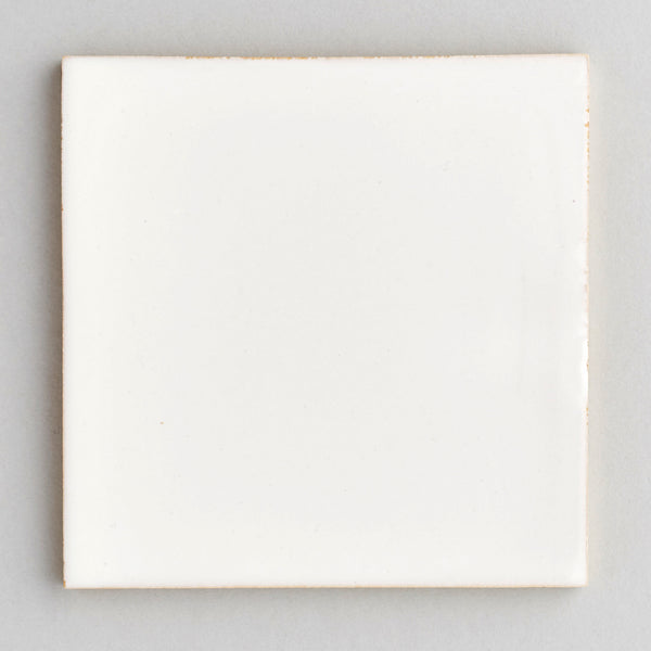 Branco tile - handpainted, handmade white tiles from Everett and Blue