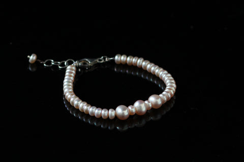 Pink Large Freshwater Pearls with 92.5 Sterling Silver