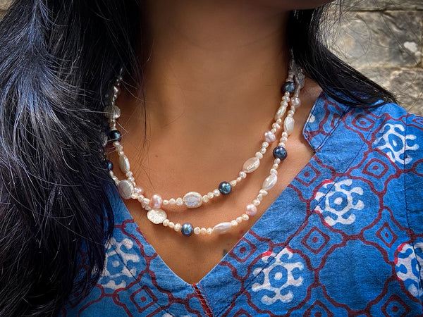 Four Pearls Neckwear with Silver