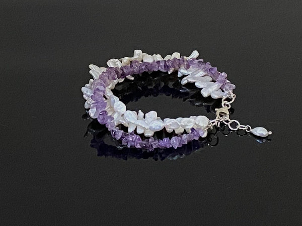 Pearls and Amethyst Bracelet