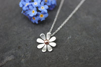 Daisy Necklace with 9ct Gold Detail
