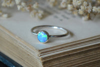 Blue Opal Stacking Ring