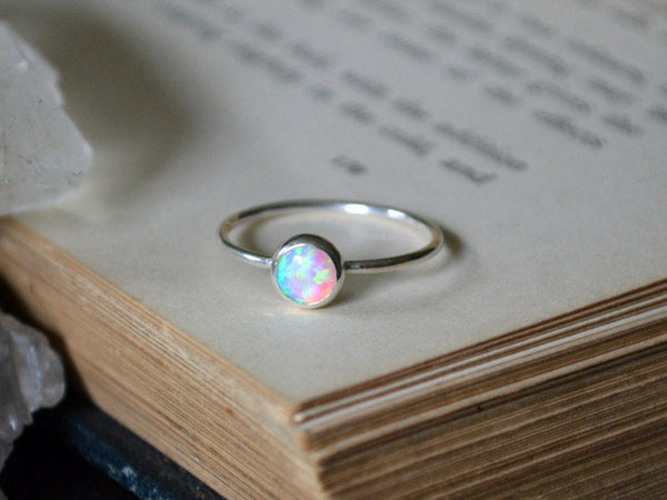 Translucent Opal Stacking Ring