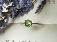 Faceted Colour Change Diaspore Ring