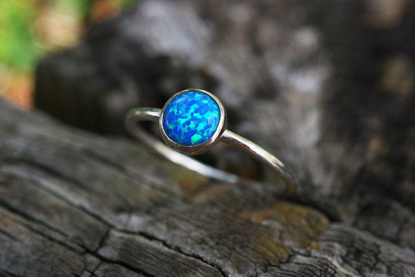 Royal Blue Opal Stacking Ring