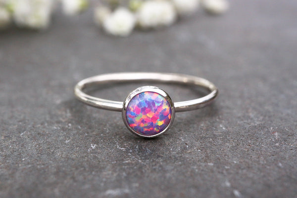 Purple Opal Stacking Ring