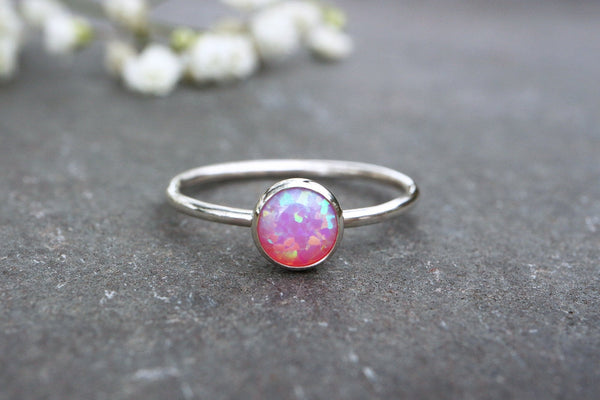 Pink Opal Stacking Ring