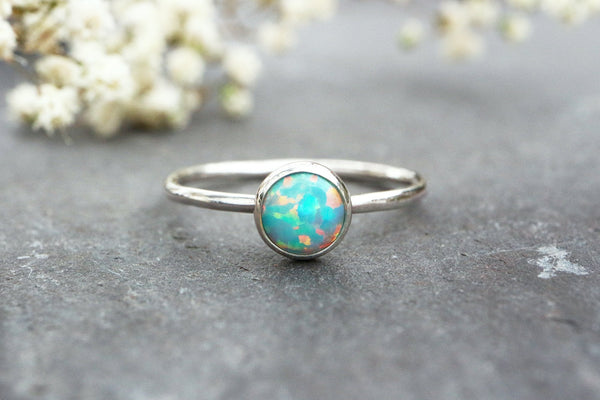 Green Opal Stacking Ring