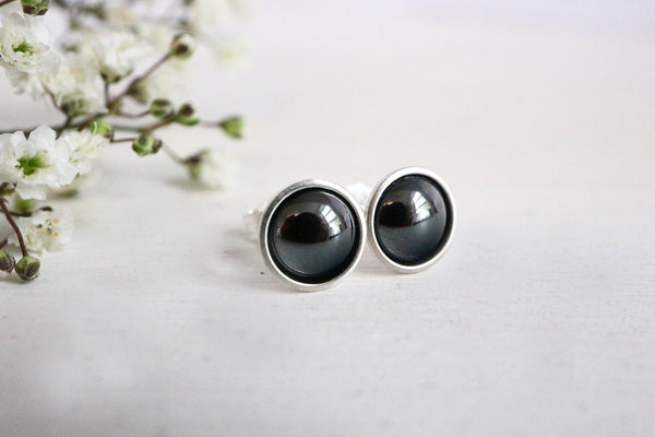 Hematite Stud Earrings