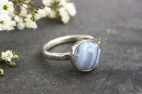 Chunky Blue Lace Agate Ring