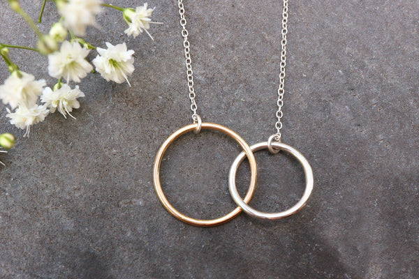 Infinity Interlocking Ring Necklace