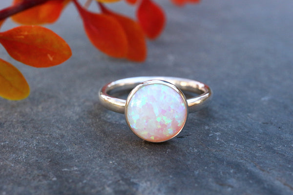 Chunky Translucent Opal Stacking Ring