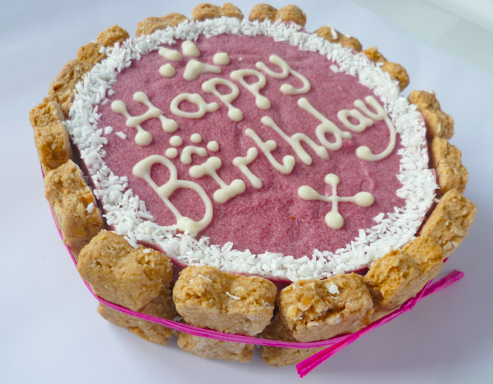 Pink Happy Birthday Cake