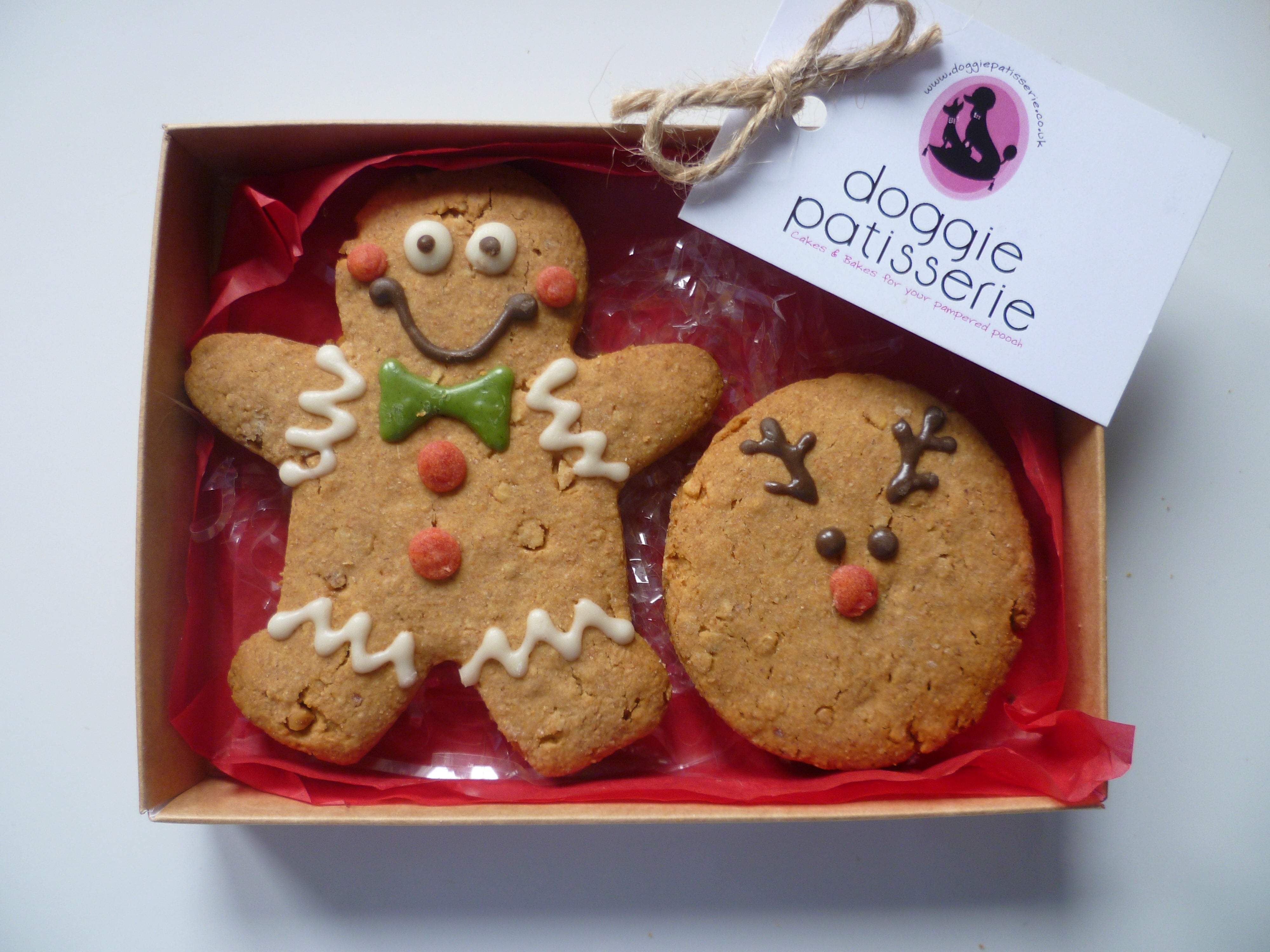 Xmas Man and Reindeer Cookie Gift Box