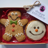 Xmas Man and Snowman Cookie Gift Box