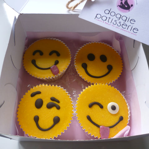 Assorted Emoji Cupcakes