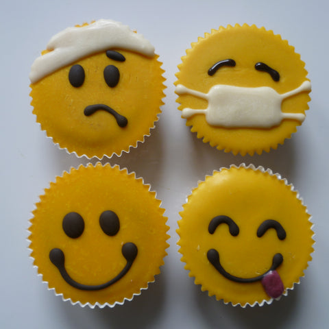 Get Well Soon Emoji Cupcakes