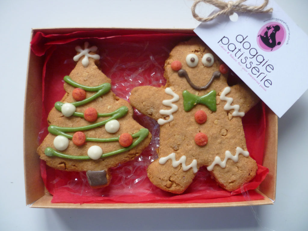 Xmas Tree and Xmas Man Cookie Gift Box