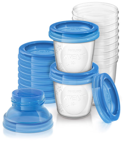 Philips SCF618/10 Avent Reusable Breast Milk Storage Cups - Pack of 10 - Baby Brands 4 U