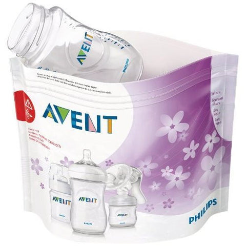 Philips AVENT Microwave Steam Steriliser Bags (Pack of 5) - Baby Brands 4 U - 1