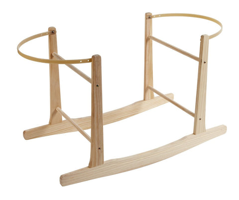 Clair de Lune Wooden Rocking Moses Basket Stand (Natural) - Baby Brands 4 U