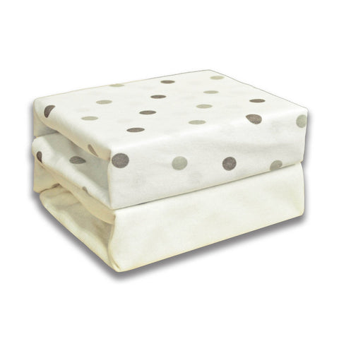 Cuddles Collection Moses Sheets (Dotty Cream) - Baby Brands 4 U