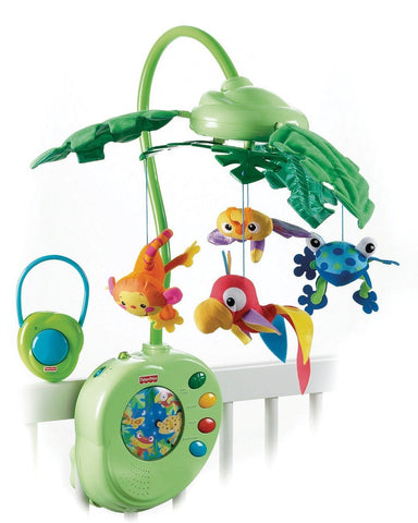 Fisher-Price Rainforest Peek-A-Boo Leaves Musical Mobile - Baby Brands 4 U - 1