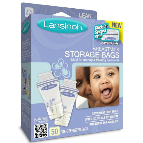 Lansinoh Breastmilk Storage Bags (50 Pieces) - Baby Brands 4 U