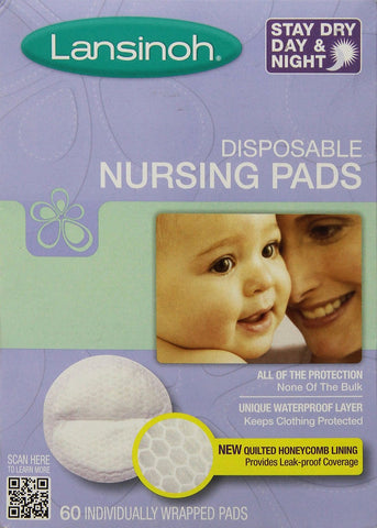 Lansinoh Disposable Nursing Pads - 60 Ct - Baby Brands 4 U - 1