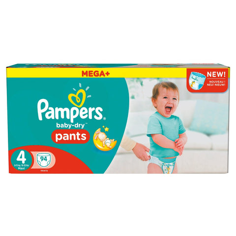 Pampers Mega Plus Baby-Dry Pants Pack of 94 Size 4 - Baby Brands 4 U - 1