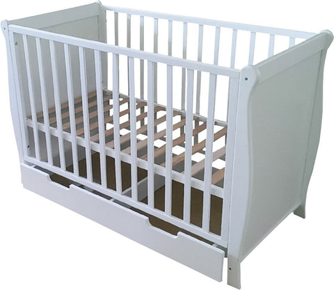 Mother Nurture - Sleigh Cot With Rollaway Drawer - Baby Brands 4 U - 1
