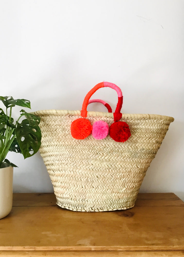 Sands Accessories - Sian Basket in Pink & Red