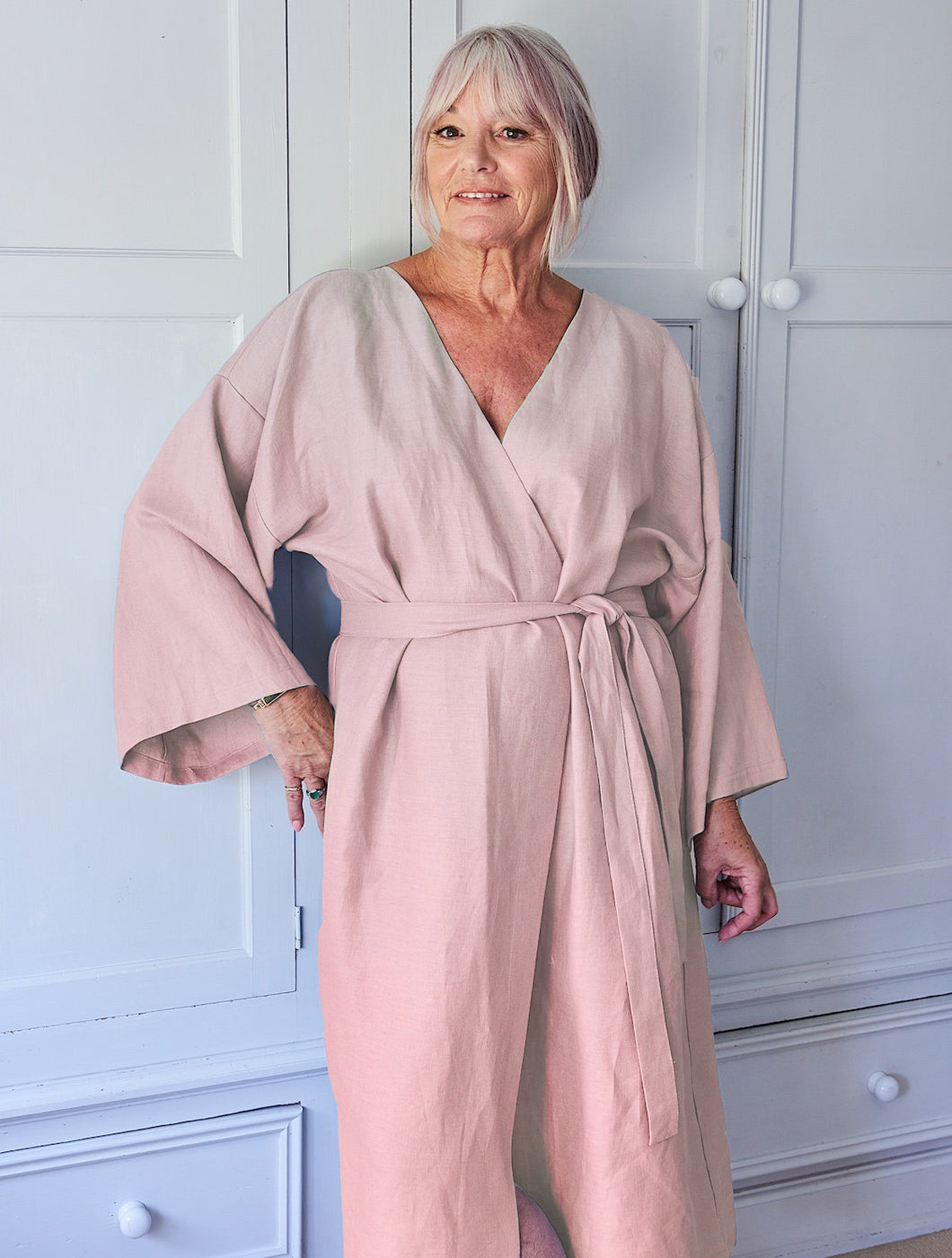 Chalk UK Linen Kimono - DUSTY PINK - Sands Boutique clothing and gifts