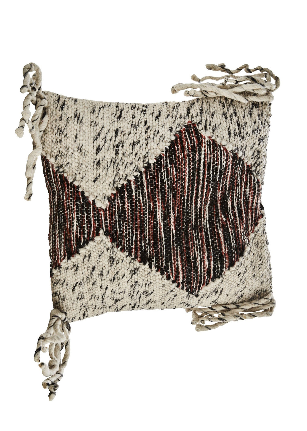 Madam Stoltz - Wool Tassel Cushion cover