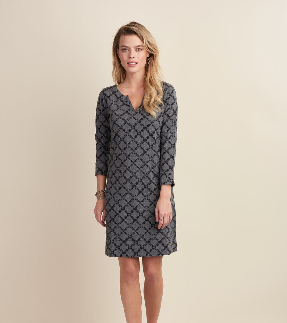 Hatley Lucy Dress - Black and Charcoal Trellis - Sands Boutique clothing and gifts